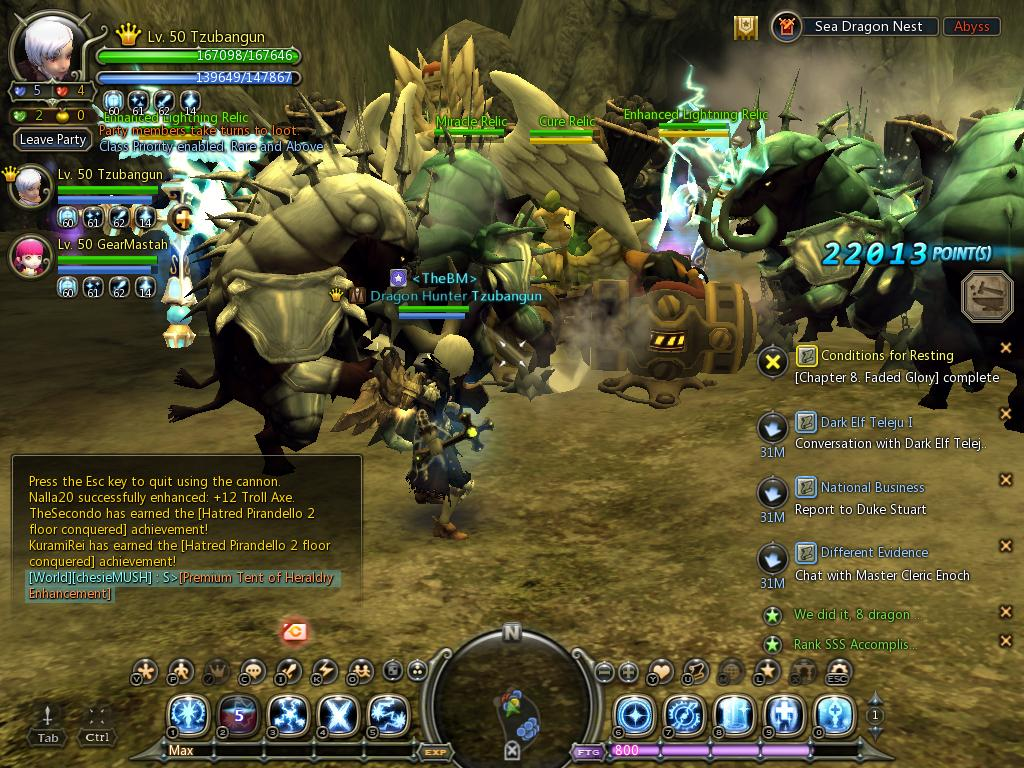 Duet Sea Dragon nest stage 1~7 no death