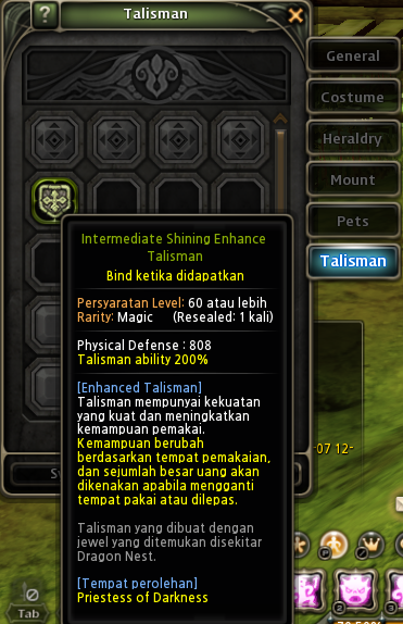 Dragon nest indonesia update new map, jade, talisman