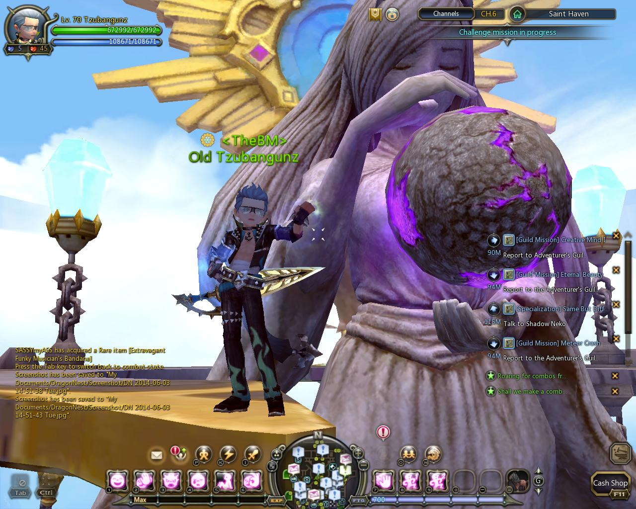 Dragon nest indonesia best support class : saint Vs Light Fury