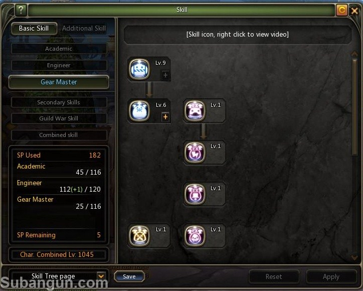 Dragon Nest Indonesia lv 70 Gear Master skill build