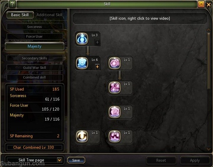 Dragon Indonesia lv 70 Majesty skill build