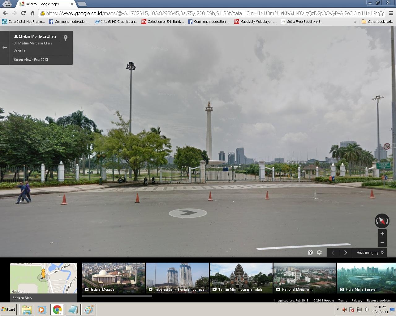 Jalan-jalan dengan google street view yuk
