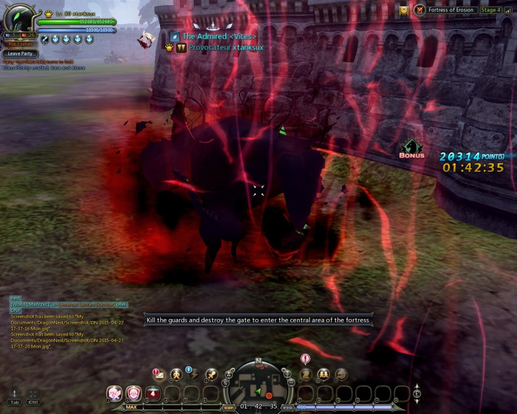 Dragon Nest Citadel of Erosion sprinter monster