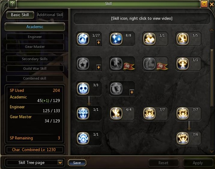 Dragon Nest Indonesia Lv 80 Gear Master Skill build