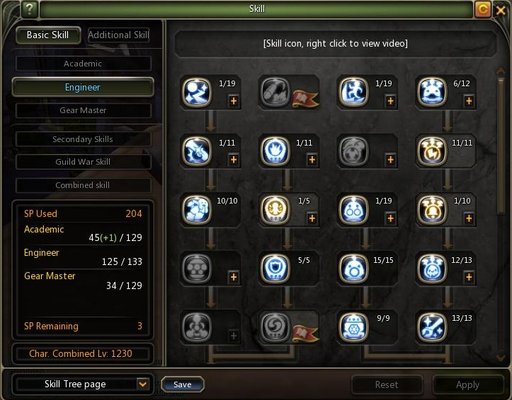 Dragon Nest Indonesia Lv 80 engineer Skill build