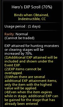 dragon nest indonesia hero exp scroll