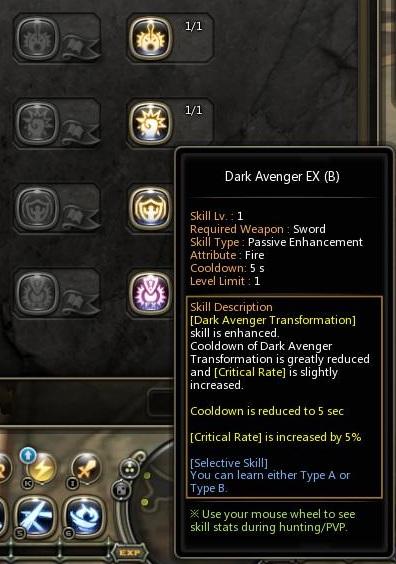 dragon nest dark avenger EX