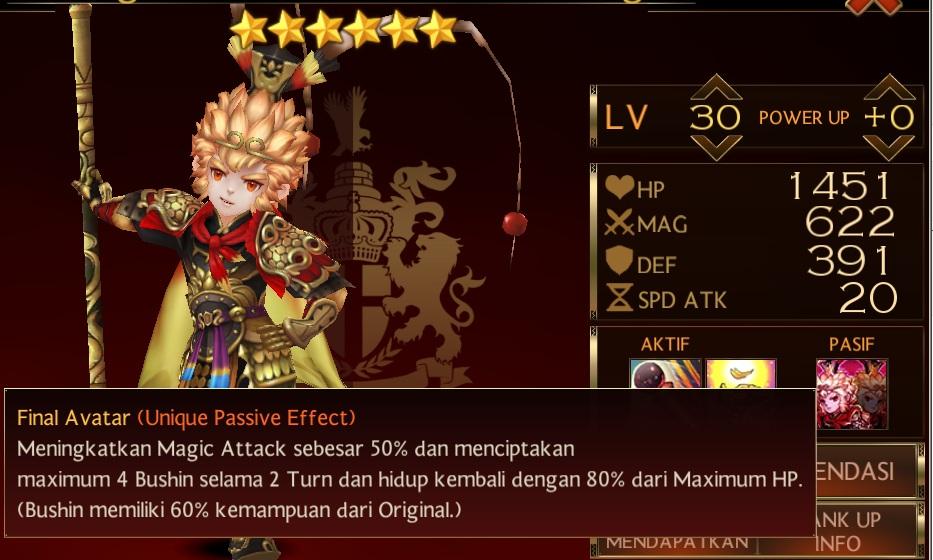 Sun Wukong Four Lords kedua di seven Knight akhirnya diupdate