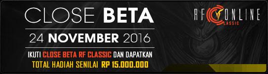 Close Beta RF classic berhadiah jutaan Rupiah