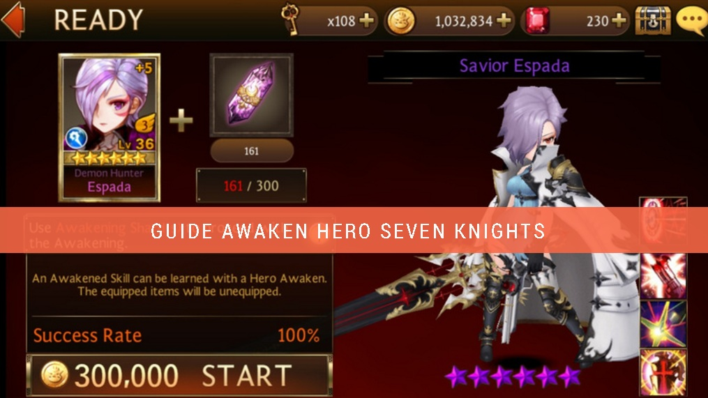 Cara awaken hero seven knights