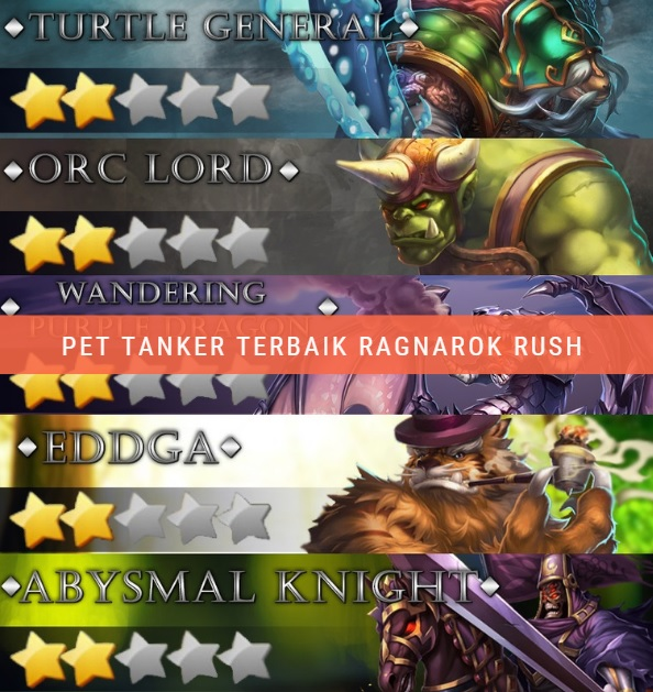 Ragnarok rush: tips memilih pet tanker terbaik untuk pemula